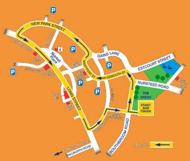 Carnival Parade map